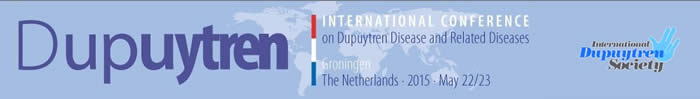 Internationale Dupuytren-Konferenz 2015 in Groningen, Holland.