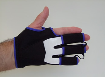 FixxGlove plus viewed from the palm side. A comfortable night splint for Dupuytren's..